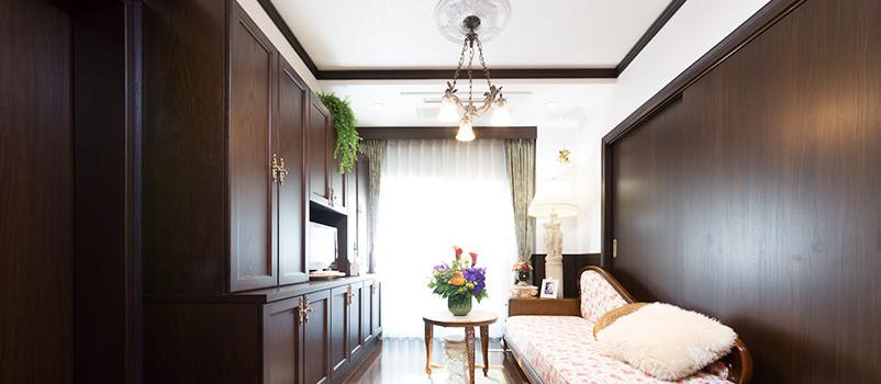 ヨーロッパのホテルのような快適な部屋